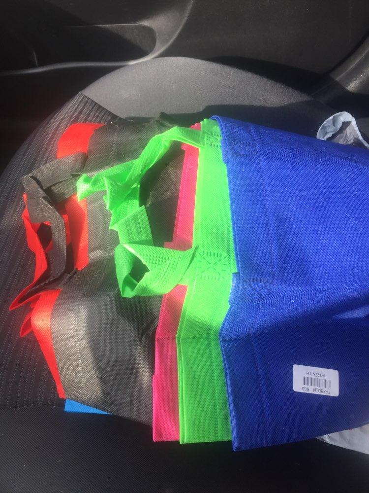 eTya Large Capacity Foldable Shopping Bags Reusable Shopper Women Handbags Non-Woven Fabric Shoulder Bag Storage Organizer Tote photo review