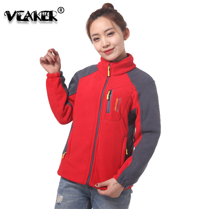 2018 New Women Winter Fleece   Jacket   Womens Thicken Warm Coat Female Windproof Polar Fleece   Basic     Jacket   Plus Size L-4XL