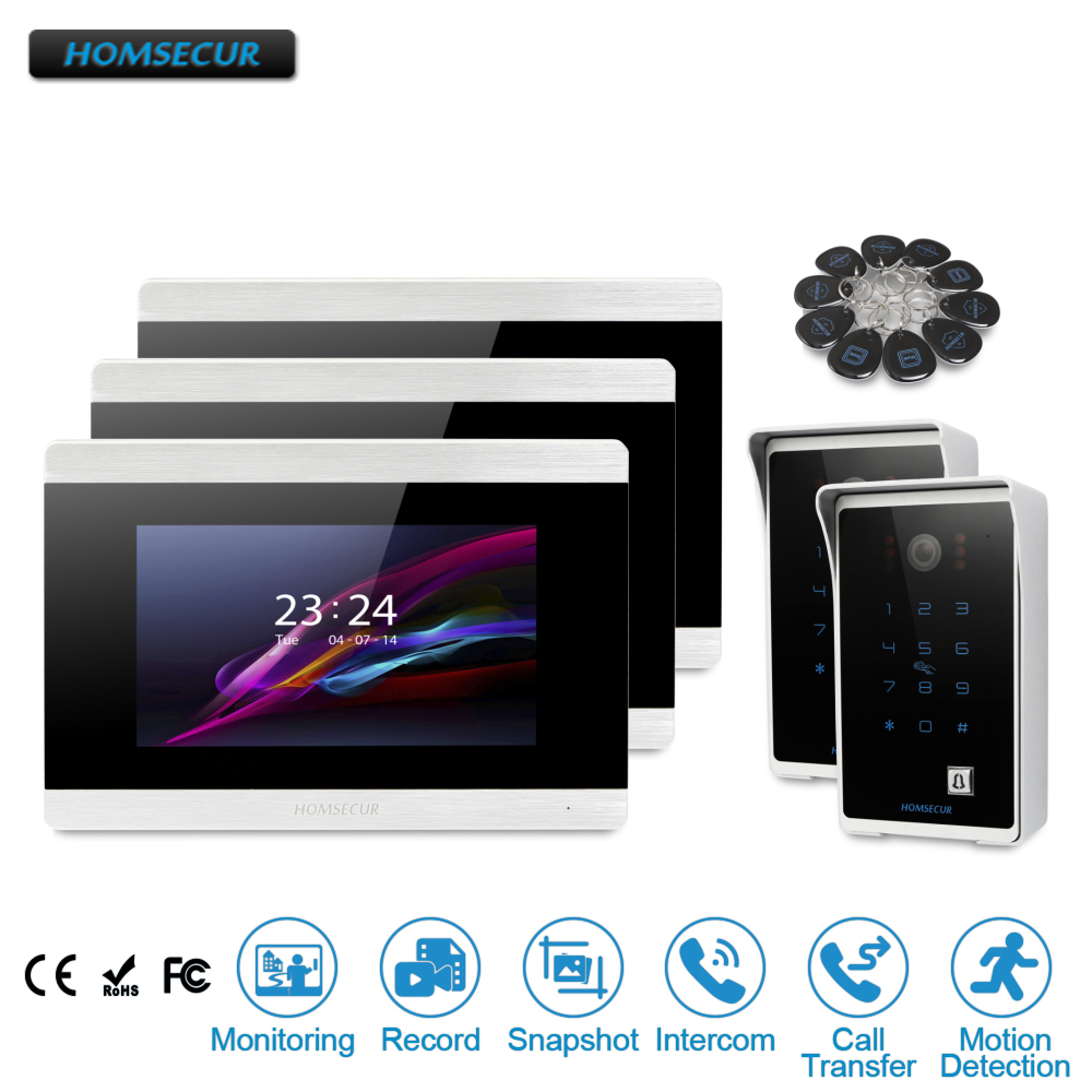 HOMSECUR 7 Wired Video Door Phone Intercom System with Touch Screen Monitor  BC081+BM715-SHOMSECUR 7 Wired Video Door Phone Intercom System with Touch Screen Monitor  BC081+BM715-S