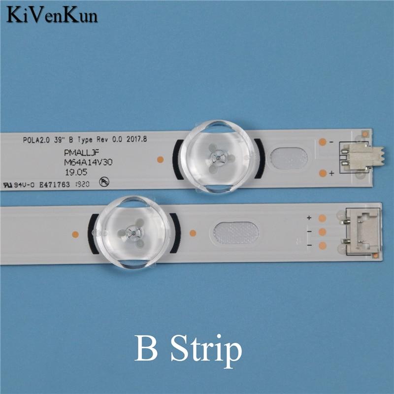 Lamps LED Backlight Strip For LG 39LA6130 39LA6134 39LA6136 39LA6139 ZB Television Light Bars Kit LED Band POLA2 0 39 quot A B Type in Shell amp Body Parts from Consumer Electronics