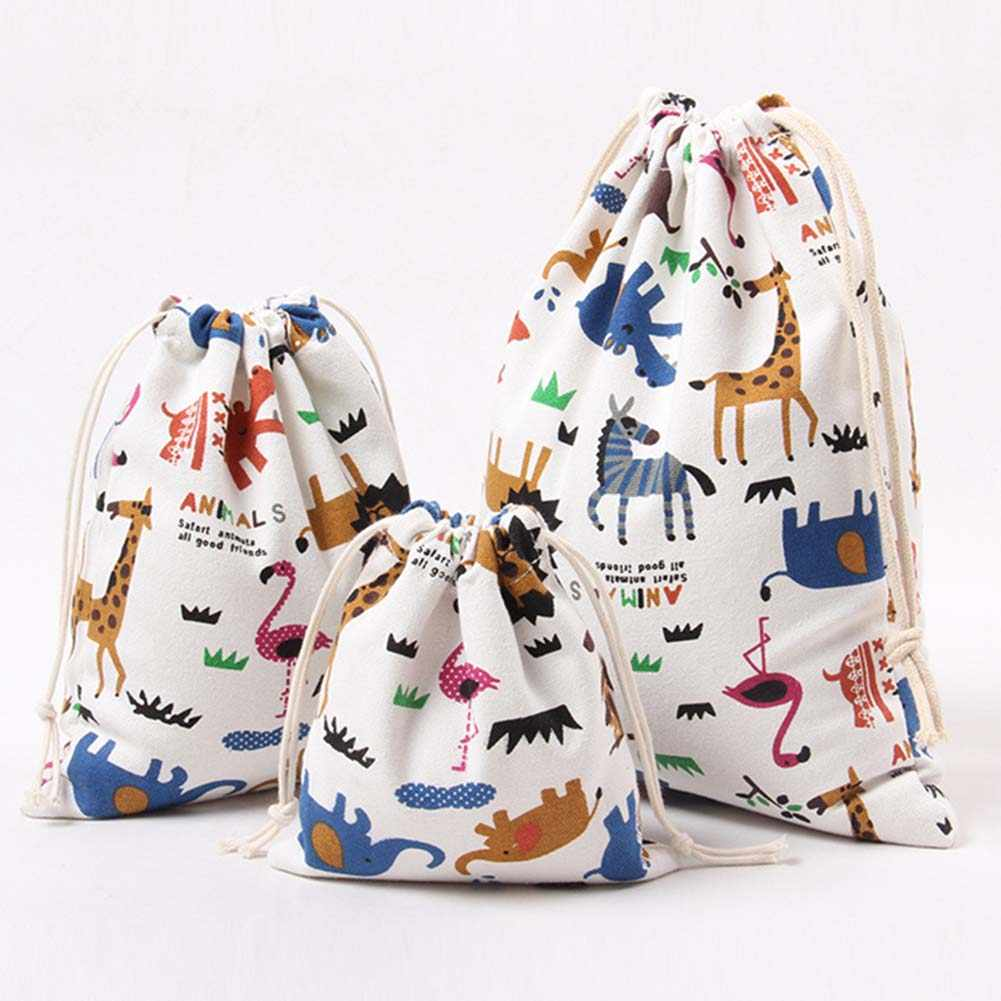 New Fashion Waterproof Drawstring Bag 3D Digital Printing Polyester For Kids With Cute Patterns Backbag