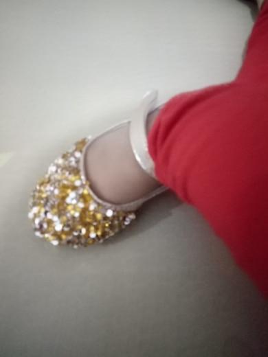 Children s autumn rhinestones small shoes sequins princess shoes ... ca2440527f3f
