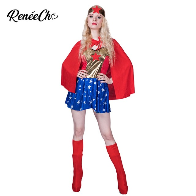 Costume Halloween Adulte Femme Wonder Woman Costume Wonder Lady