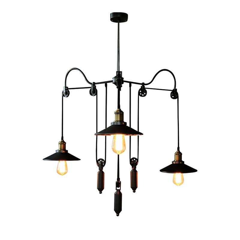 Smuxi Restaurant Pendant Lights Retro Industrial Style Vintage Dining Room Adjustable Pendant Lamps E27 Base