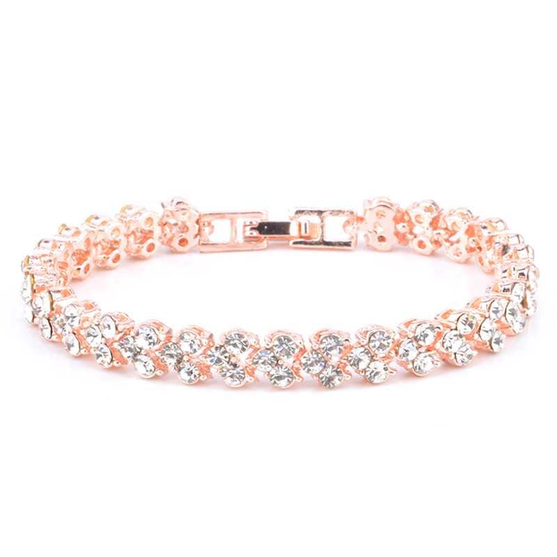 Women Luxurious Roman Crystal Bracelet 1