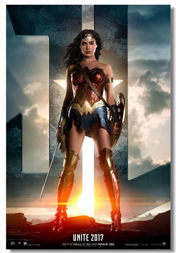 Custom Canvas Wall Decorations Sexy Gal Gadot Wonder Woman