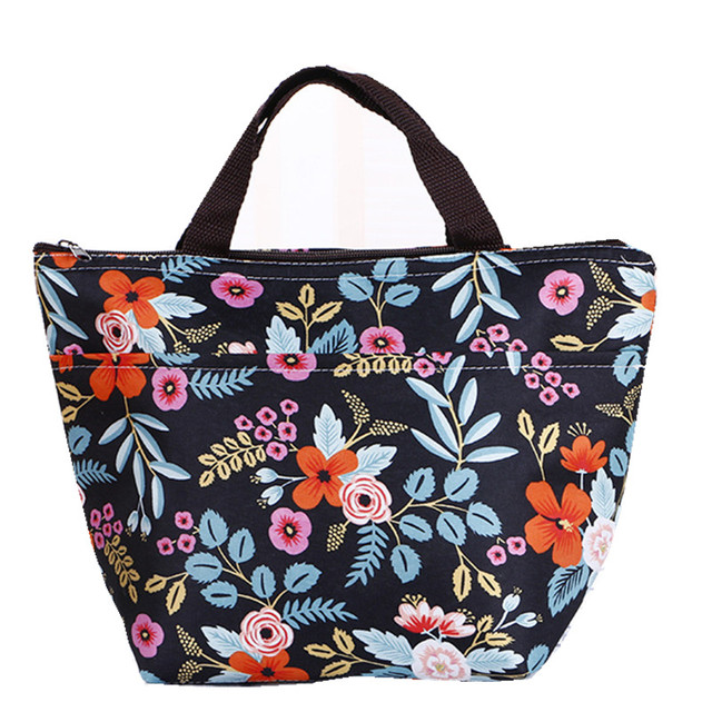 c4fbf9adfd2c US $1.18 24% OFF|2019 family picnic food warmer lunch bag flower bear heart  fooball lady girls bag thermal foil tote lunch box fresh keeper box-in ...