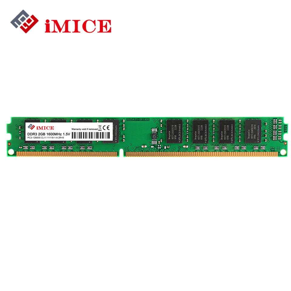 IMICE Desktop PC RAMs DDR3 2 GB 1600 MHz PC3-12800S 1333 MHz PC3-CL9 4 GB 1.5 V Memoria Del Computer BRACCIO Per Intel DIMM Garanzia