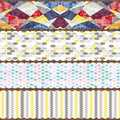 Else Yellow Gray Pink White Geometrics Patchwork Table Cloth Runner Decor for Kitchen Dining Room Wedding Birthday 40X140CM