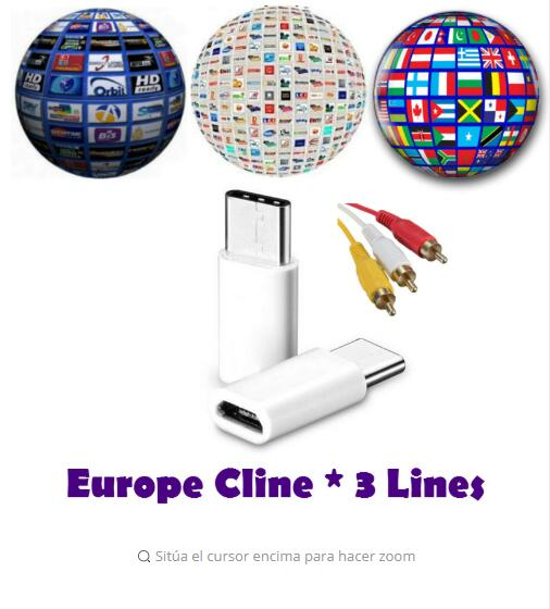 Europe Cable HD 1 Year Cccam 3 Lines For Satellite Tv Receiver France Germany Polsat For Support Spain Cline CCCC Server
