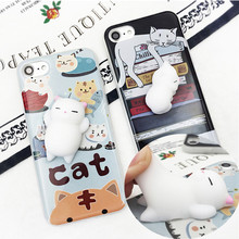 Funny Cute Cat Case for iPhone 5 5S SE 6 6S 7 8 Plus Coque Shell Soft TPU Silicone Cover S Funda Capa