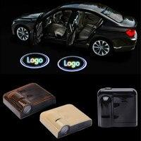 JURUS 2 pcs sans fil pour plus de porte de voiture bienvenue logo emblème pas drill type badge lumières led laser d'ombre de fantôme projecteur lampe