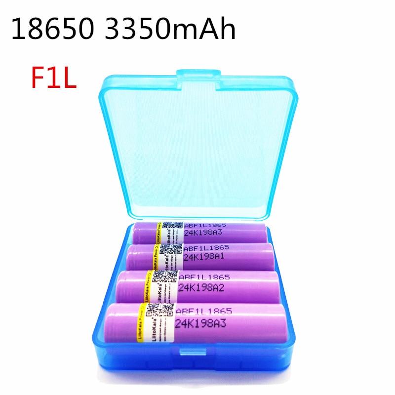 4 шт. liitokala-flii, оригинальная перезаряжаемая батарея 3,6 В 18650 INR18650 F1L 3350 мАч 4,2 в