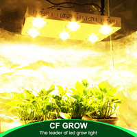 LED Plant Grow Light Full Spectrum Dimmable CREE COB CXB3590 X6 II 600W 72000LM = HPS 1000W for Indoor Plant Growth Lighting