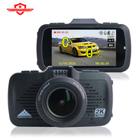 Kommander T100 Car DVR Camera GPS 2 In 1 Ambarella A7LA50 1296P Hd Dash Camera Russian