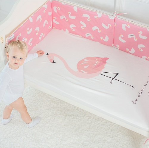Baby Bed Sheet Pure Cotton Crib Mattress Cover For Kids Cute Cartoon Pattern Baby Fitted Sheets Baby Bedding Photography Props