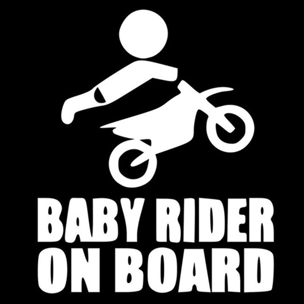 12.8*15.2CM New Vinyl BABY RIDER ON BOARD Dirtbike Sticker Dirt Bike Motorcycle Car Body Stickers Car Styling Multi Color Decals hot sale 1pc longhorn hilux 900mm graphic vinyl sticker for toyota hilux decals badges detailing sticker car styling accessories