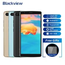 Blackview A20 Pro Смартфон Android 8,1 2 GB + 16 GB 5,5 дюйма 18:9 полный Экран MT6739 4 ядра 8MP отпечатков пальцев 4G LTE мобильный телефон