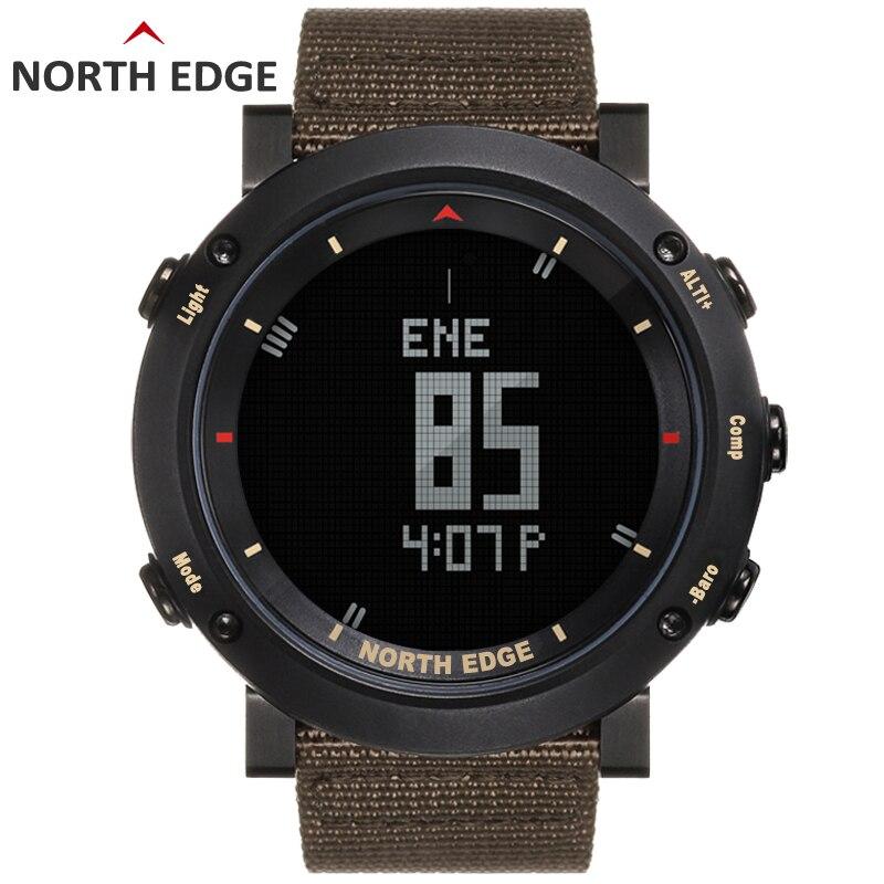 Digital Watch Barometer North-Edge Hours Running Waterproof Compass Swimming Colorful