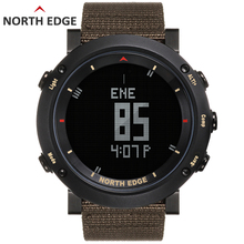 Man sport digital watch Waterproof Colorful sports watches Hours Running Swimming Altimeter Barometer Compass Weather North Edge