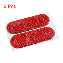 X Autohaux 12Cmx4cm Car Auto Exterior Reflector Decal Stick-On Reflective Sticker Red 2Pcs