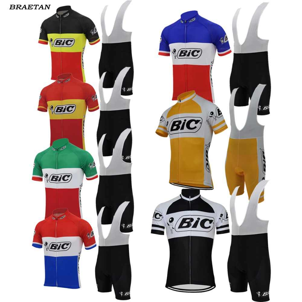 bic cycling sets men short sleeve jersey complete bike wear summer cycling  clothing Cycle 3D gel 221bb0624