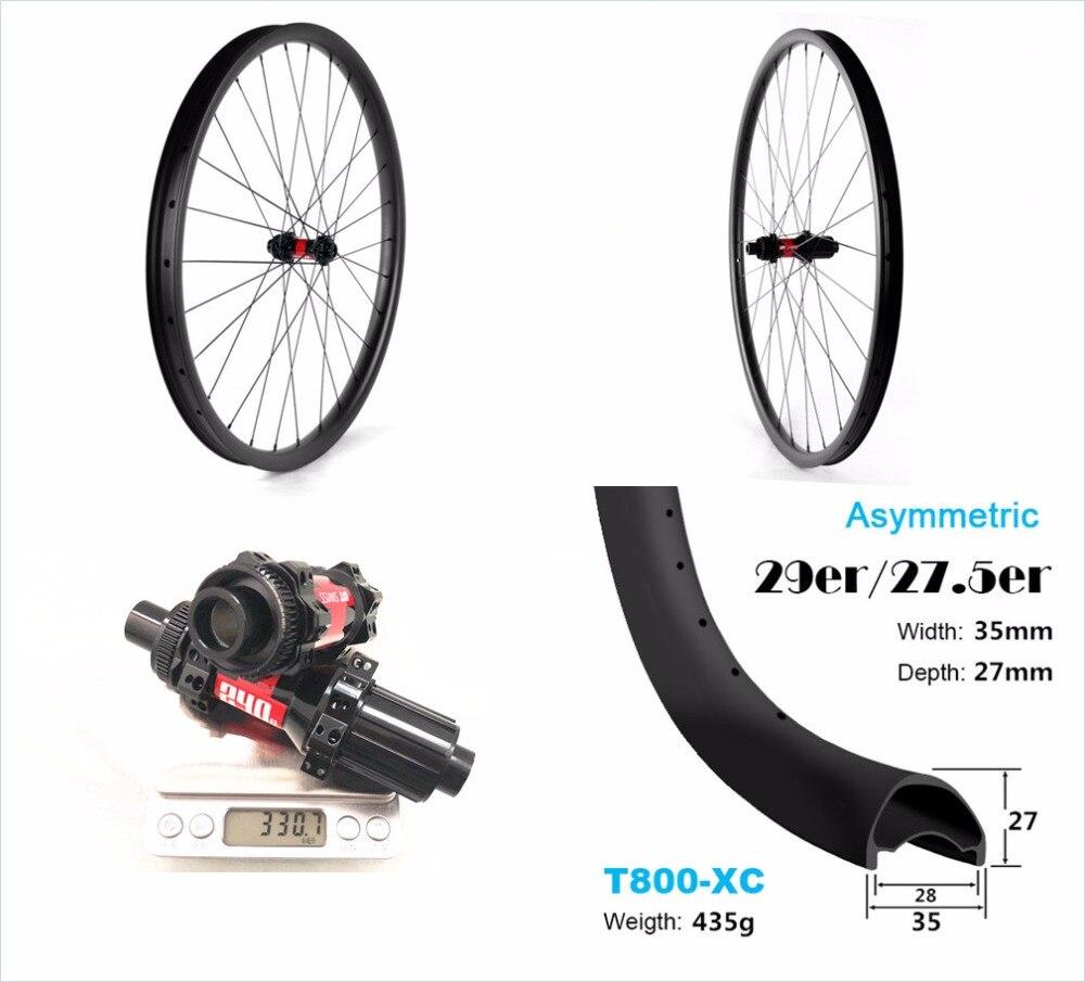 35*27 углеродного колеса для горных велосипедов высокоэффективный углеродный MTB колеса 27.5er 35 мм шириной 29 er довод карбоновые колеса для горно