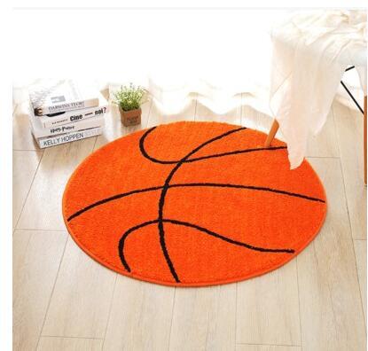 80x80 cm/90x90 cm rond en forme de bande dessinée tapis de basket-ball tapis épaissir salon tapis ordinateur chaise tapis intérieur
