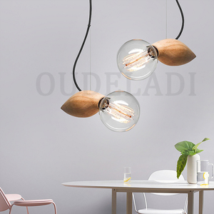 Image 2 - الحديثة خمر خشب متين صغيرة قلادة على شكل طير أضواء زينت مطعم مقهى بار مصابيح مع E27