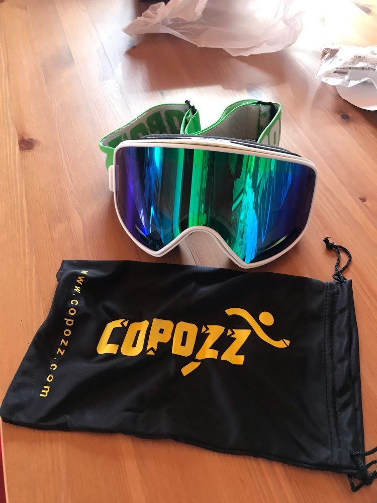 COPOZZ Dual-use Ski Goggles with Magnetic Quick-change 2 in 1 Lens Anti-fog UV400 Night Skiing Snowboard Goggles for Men & Women