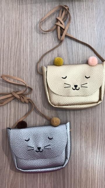 Mini Shoulder Bag Cute Cat Ear Messenger Bag Women Kids All-Match Key Coin Purse Cartoon Lovely Handbags Simple girl Clutch ZK25 photo review
