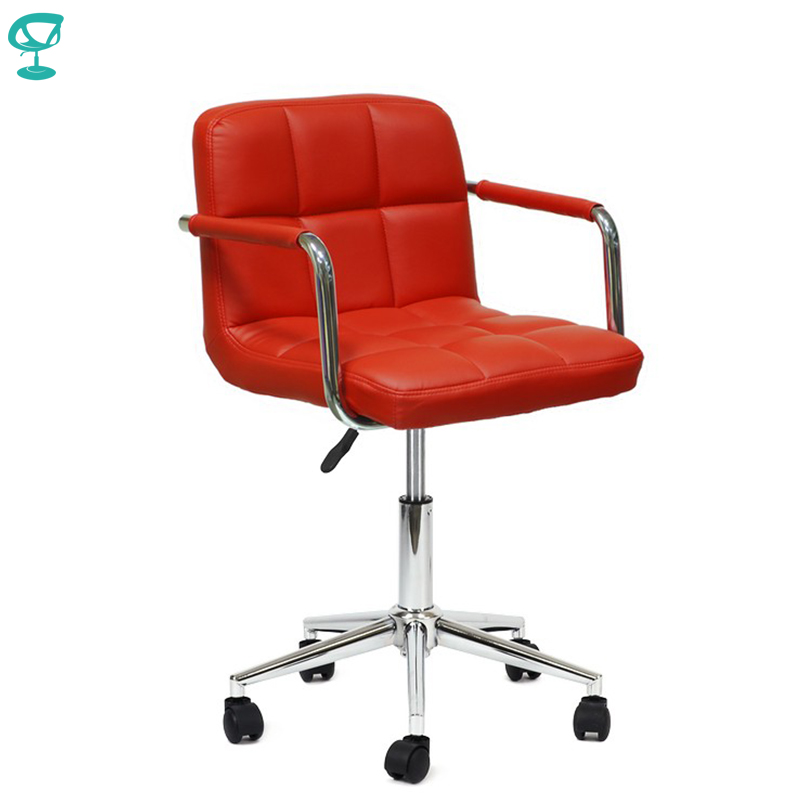 94720 Barneo N-69 Leather Roller Kitchen Chair Swivel Bar Chair Red Free Shipping In Russia