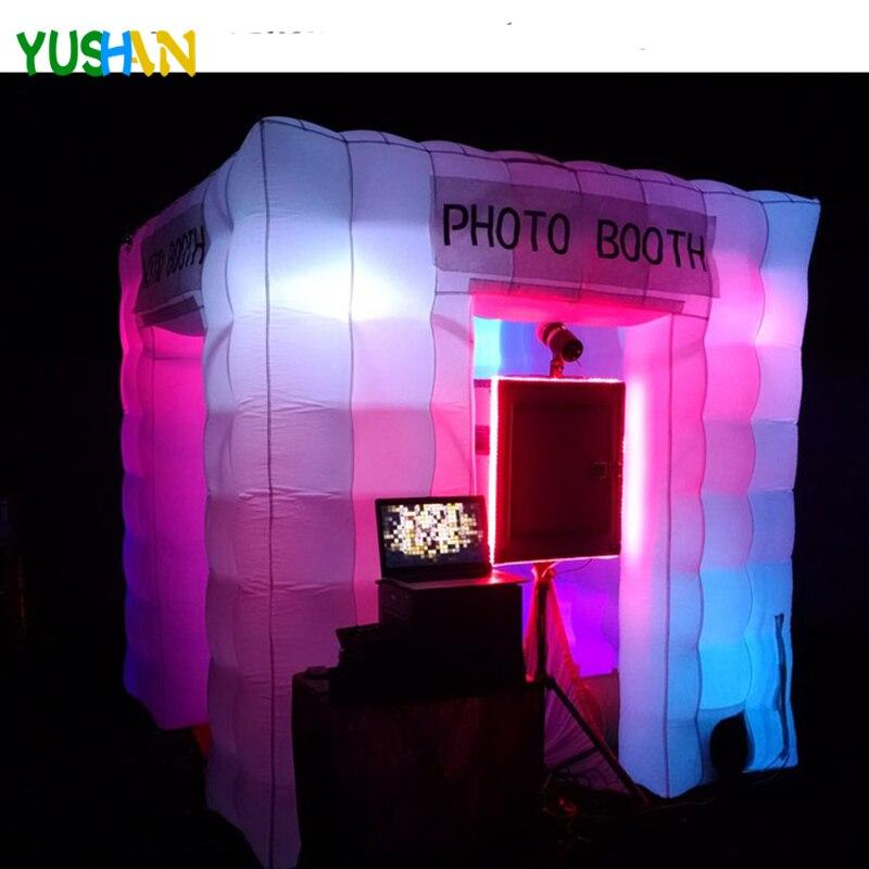 Пульт дистанционного управления цвета Изменение 8 шт. светодио дный луковицы надувные photo booth фон для вечеринки с внутренним вентилятор наду