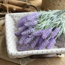 Искусственное растение, лаванда, пластиковое украшение для дома, свадебный букет, растение, аксессуары для стен, искусственный цветок