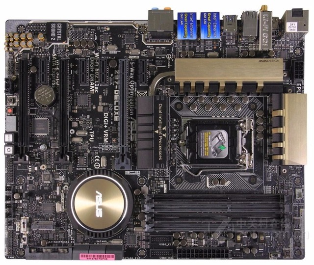 US $279 2 |Socket LGA 1150 For ASUS Z97 Deluxe Original Used Desktop for  Intel Z97 Motherboard DDR3 USB3 0 SATA3 PCI E3 0-in Motherboards from