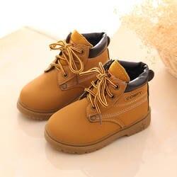Осенне-зимние детские ботинки «Мартенс» для мальчиков и девочек в британском стиле, студенческие зимние ботинки с круглым носком, детские