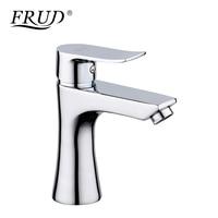 FRUD New 1 Set Basin Faucets Single Handle Basin Mixer Tap Bath Waterfall Bathroom Faucet Chrome