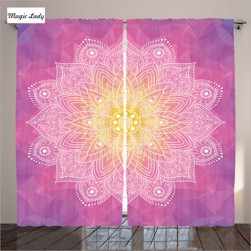 Curtains insulated living room bedroom mandala circular - Curtain ideas for living room india ...