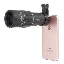 Big discount 16×52 Hiking Concert Phone Camera Lens Telescope Monocular + Universal Clip Telephoto For Samsung For iPhone 7 Xiaomi Smartphone