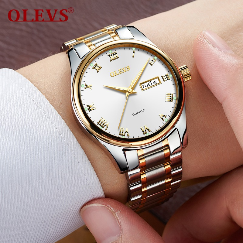 2018 OLEVS Brand Luxury Watches Men Business Watch Mens Quartz Date Clock Male Stainless Steel Wrist Watch Relogio Masculino цена