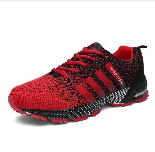 2018 Hot Sale Fashion Light Breathable cheap Lace-up Men Shoes Human Race Casual Shoes For Male Black Red Plus Size 35-46 цены