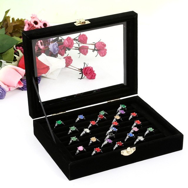 Aliexpresscom Buy Fashion Jewelry Storage Box Ring Earring Case
