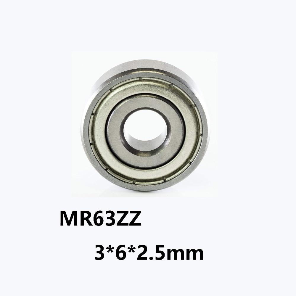 10pcs Mini Bearing steel bearing Rolling Ball Bearings MR63ZZ 3*6*2.5mm BHUS