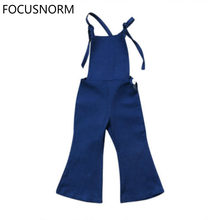 FOCUSNORM Hot New 2017 Toddler Kids Girls Denim Bib Bell-bottoms Romper Overalls Jumpsuit Playsuit Clothes Size 1-6T(China)