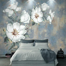 Retro oil painting flower wall European style abstract professional custom wallpaper mural