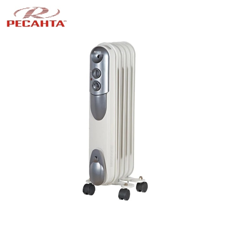 Oil radiator RESANTA OMPT-5N Air heating Oil heater Space heating Oil filled radiator Sectional radiator