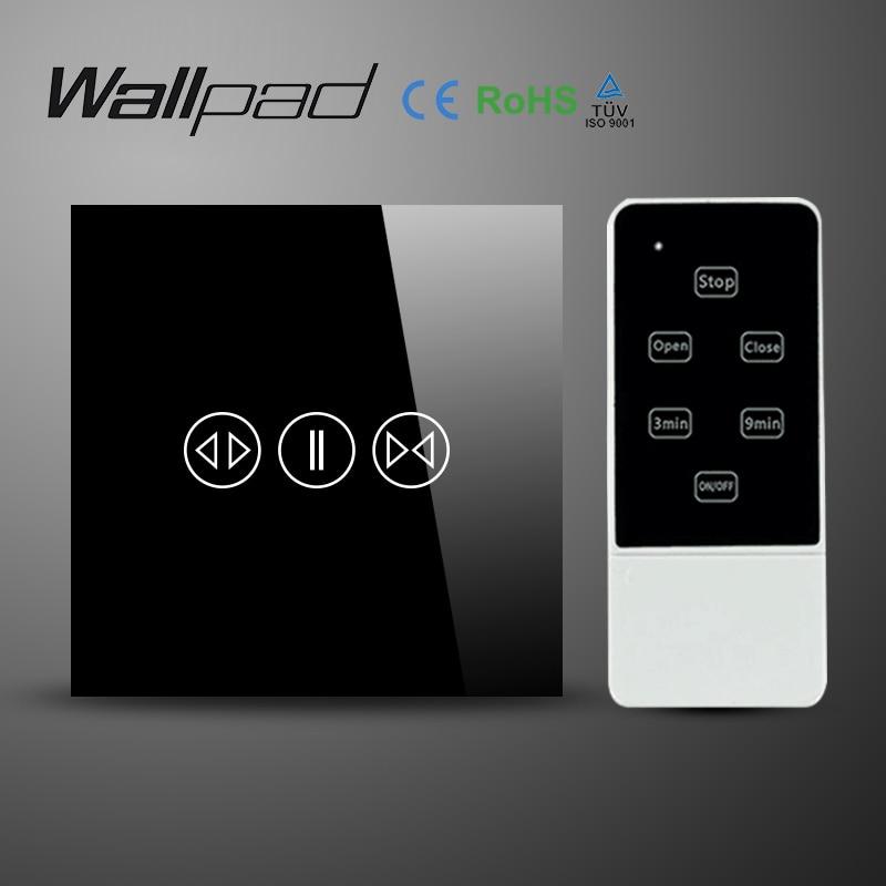 Wallpad Luxury Black Galss Panel UK EU Type 50Hz~60Hz Remote Control ...