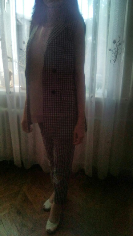 Arrival Women'S Plaid Double Breasted Notched Blazer Vest &Amp; High Waist Pants Elegant Office Lady Blazer Suits Hots photo review