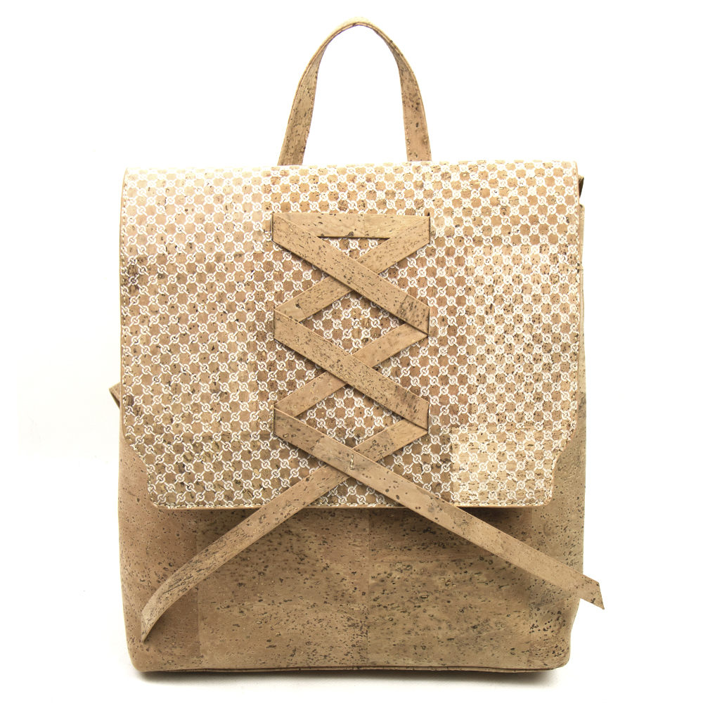 Cork Lady Backpack with white weaving pattern bags women cork egan Cork handbag with double handle Bag-310-C цены онлайн