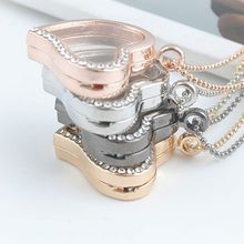 High Quality photo frame Heart Pendant Necklace Fashion Jewelry classic Valentine's Day gift Top quality(China)